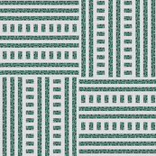 Buzz Weave - Forest Green, Pale Grey