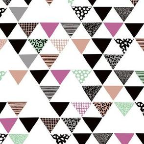 Geometric tribal aztec arrows triangle mint magenta