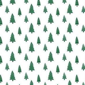 Plaid Green Trees Mini