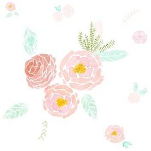 October Roses White