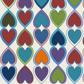 April Double Hearts