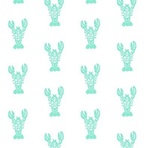 Block Print Lobster - Mint