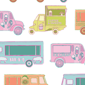 big food trucks in white