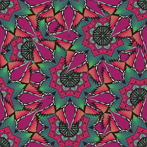 Psychedelic floral ornament