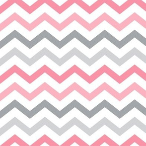 little one baby girl :: chevron