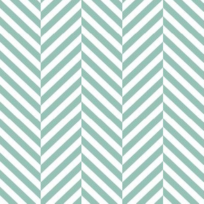 herringbone LG faded teal