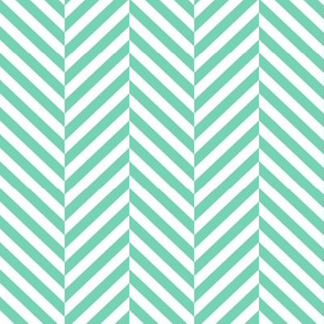 herringbone LG sea foam green