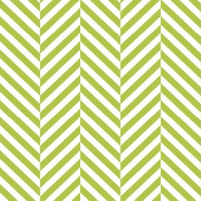 herringbone LG lime green
