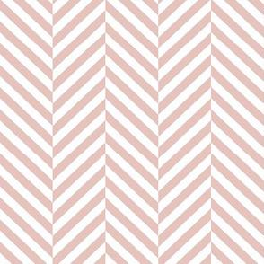 herringbone LG dusty pink