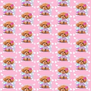 Miniaturen poodle toodles pink S