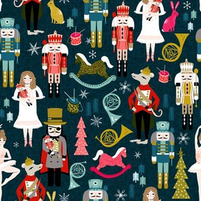 nutcracker // nutcracker fabric xmas holiday christmas fabric by andrea lauren