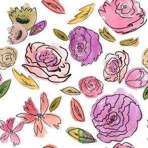 Indy Bloom Purple Doodle Floral