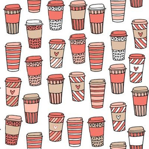 coffee // cafe latte coffee fabric autumn pumpkin spice coffee hand drawn illustration andrea lauren