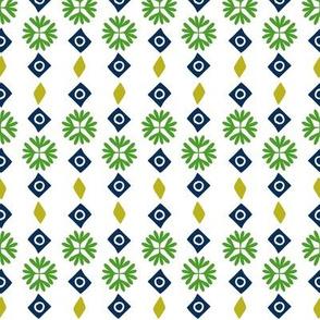 Folk Flowers Geo Stripe