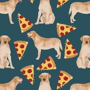 yellow labrador pizza fabric cute dog design dog breed fabric funny pizza fabric yellow lab design yellow labrador retriever