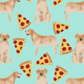labrador pizza fabric golden yellow lab fabric yellow lab fabric pizza fabric cute dog breed fabrics
