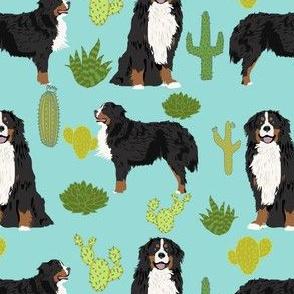 bernese mountain dog cactus fabric cactus design cactus pet dog breed fabric trendy dog fabric