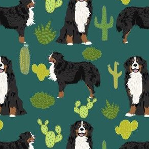 bernese mountain dog fabric cute dog breed fabric cactus cactus fabric dogs dog breed fabric for dog owners