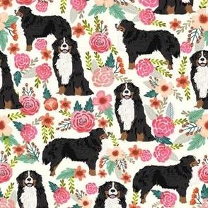 bernese mountain dog florals dog flowers cute dog design sweet florals best dog flower fabrics dog fabric bernese mountain dog fabric