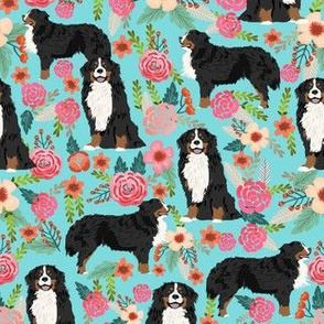 bernese mountain dog florals dog fabric dog breed fabric cute dogs best bernese moutain dog design
