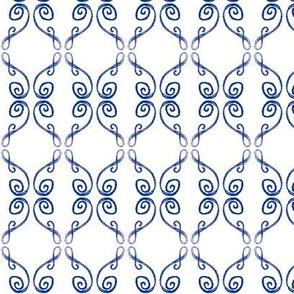 Doodle Frederik blue