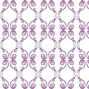 Doodle Frederik violet