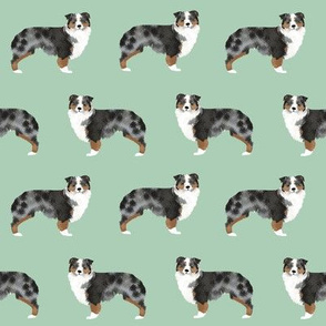 australian shepherds dog mint aussie dog cute dog fabric sweet dogs dog breed fabric australian shepherds