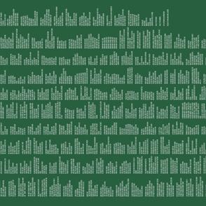Prose Edda's Havamal in White & Green