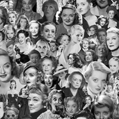 Batty about Bette - Bette Davis black and white collage