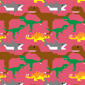 Pixel Dinos (and Sharks!) - Coral