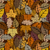 Mid Century Autumn Leaves