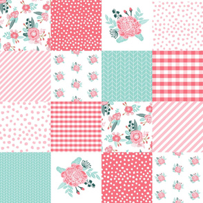 quilts, peonies quilt, quilt top, cheater quilt, wholecloth, baby blanket, girls, nursery quilt
