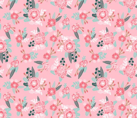 Pink flowers florals baby nursery baby cute pink floral for Floral nursery fabric