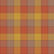 "Paneled tartan check - 3"" - warm colors"
