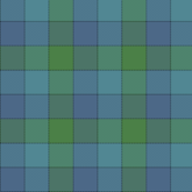 "Paneled tartan check - 3"" - cool colors"