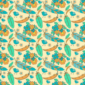 4_TK-2-_Feather_Bird_Flowers-Peach_Bright_150