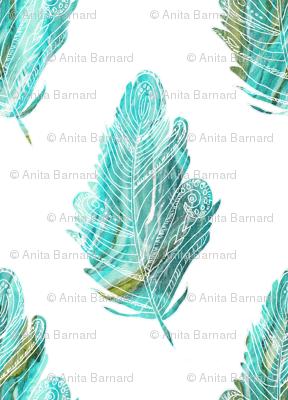 Rfeather_style_aqua_green_white_seamless_preview