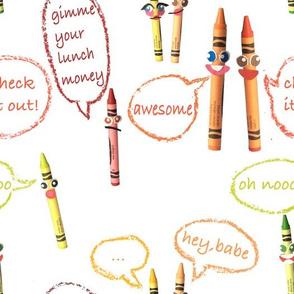 talking crayon friends