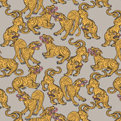 Tiger Stripes Large Neutral Beige