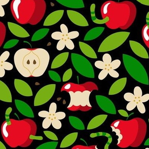 apple bloom and apple fruit