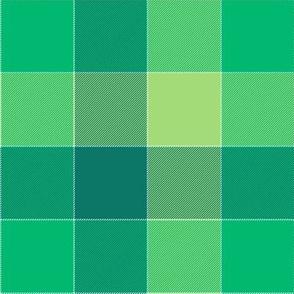 "paneled tartan - 6"" - serene greens"