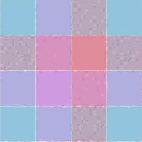 "paneled tartan - 6"" - pysanky purple"