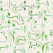 green faces side orientation