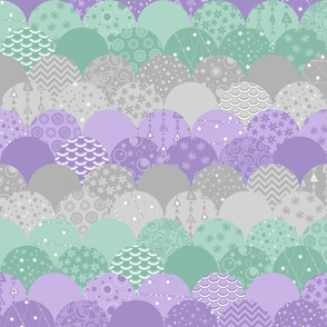Scallop Sea (Purple and Mint)
