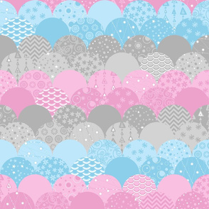 Scallop Sea (Pink and Blue)