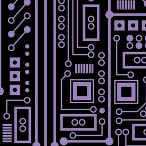 Evil Robot Circuit Board (Extra Large Purple)