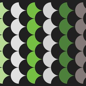 Green and Black Clamshell Quilt