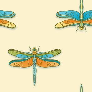 Elegant dragonflies