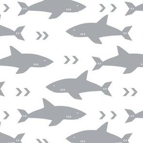 shark fabric grey fabric sharks boys nursery baby fabric shark decor shark week fabric sharks