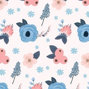 Pink and Blue Floral Fun